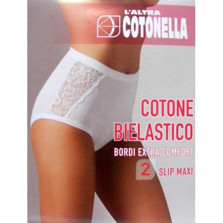 SLIP DONNA COTONELLA MAXI PIZZO CONFORT - GD131