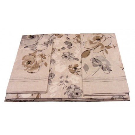 COMPLETO LENZUOLA COTONE GAIA DOLCE NOTTE BEIGE