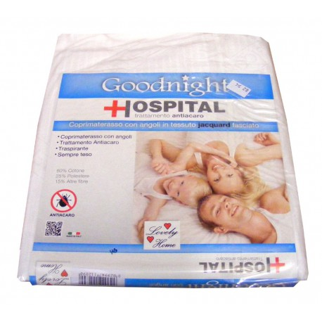 COPRIMATERASSO CON ANGOLI ANTIACARO GOODNIGHT HOSPITAL LOVELY HOME